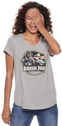 Juniors' Jurassic Park High-Low Graphic Tee