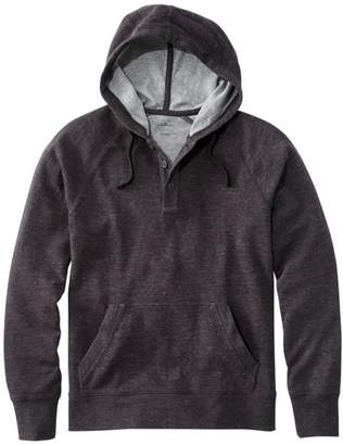 L.L. Bean L.L.Bean Men's Washed Cotton Double-Knit Henley Hoodie, Slightly Fitted Long-Sleeve