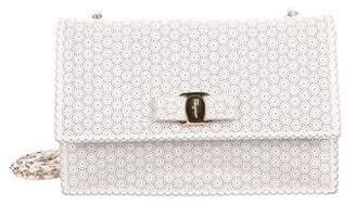 Salvatore Ferragamo Ginny Perforated Crossbody Bag