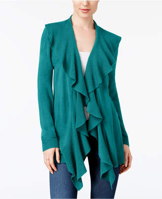 Karen Scott Ruffled Cardigan