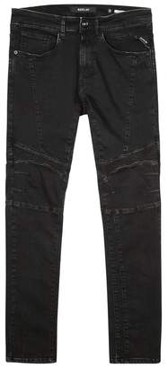 Replay Zaldok Black Skinny Biker Jeans