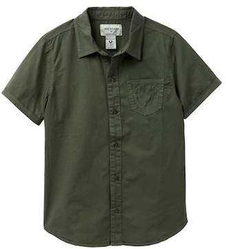 True Religion Woven Short Sleeve Top