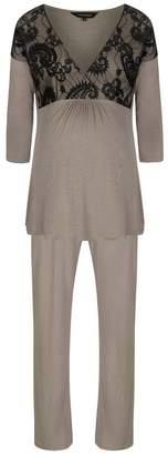 MamaMoosh Indulgence Maternity/Nursing P Js Three Quarter Sleeves