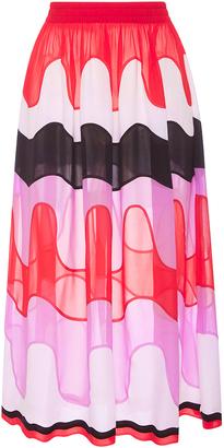 Emilio Pucci High Waist Retro Print Midi Skirt $2,730 thestylecure.com
