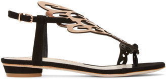 Sophia Webster Black Suede Seraphina Sandals $395 thestylecure.com