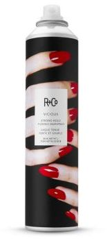 R+Co VICIOUS Strong Hold Flexible Hair Spray/9.5 oz. $29 thestylecure.com