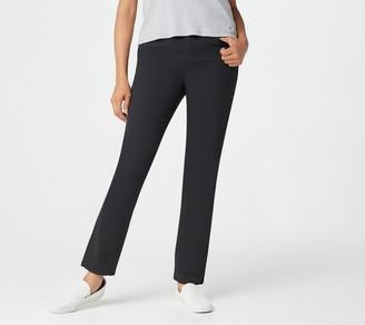 Denim & Co. Regular 5-Pocket Slim Straight Leg Jeans
