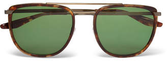 Barton Perreira Lafayette Aviator-Style Tortoiseshell Acetate and Gold-Tone Sunglasses - Brown