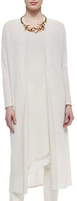 Eileen Fisher Washable Linen Crepe Maxi Cardigan, Plus Size $308 thestylecure.com