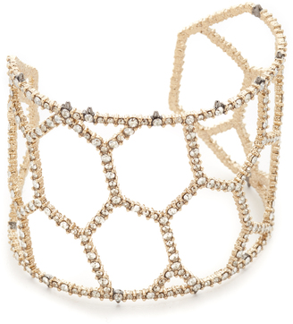 Alexis Bittar Honeycomb Frame Cuff Bracelet $275 thestylecure.com