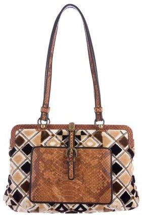 Bottega VenetaBottega Veneta Python-Trimmed Shoulder Bag