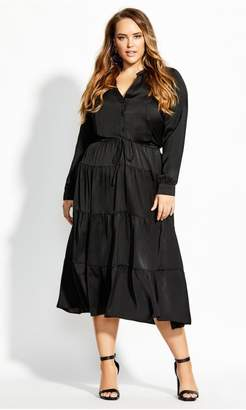 City Chic Citychic Midi Charisma Dress - black