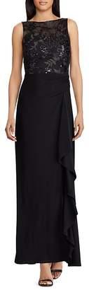 Lauren Ralph Lauren Embellished Bodice Gown