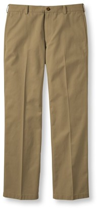L.L. Bean L.L.Bean Men's Wrinkle-Free Double LA Chinos, Standard Fit Plain Front