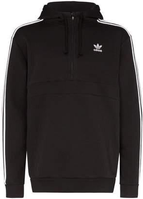 adidas logo stripe hoodie