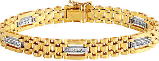 JCPenney FINE JEWELRY Mens 1/2 CT. T.W. Diamond 10K Gold Chain Link Bracelet