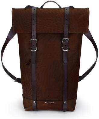 Key Stone Ezra Arthur Keystone Nickel Detail Leather Rucksack