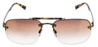 John Varvatos Rimless Aviator Sunglasses w/ Tags