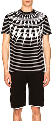 Neil Barrett Fair Isle Thunderbolt Striped Tee