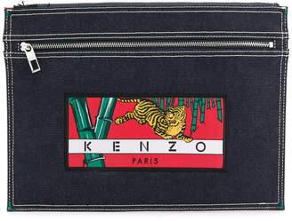 Kenzo Memento denim clutch