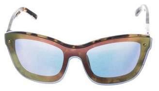 3.1 Phillip Lim Oversize Mirrored Sunglasses