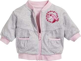 Playshoes Baby Girls' Wendejacke Einhorn Jacket,(Manufacturer Size: 68)