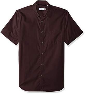 Lacoste Men's Short Sleeve Pocket Mini Pique Regular Fit Woven Shirt