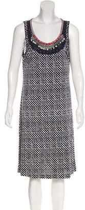 Tory Burch Silk Embellished Sleeveless Dress
