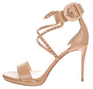 Christian Louboutin Choca Lux Leather Sandals Nude Choca Lux Leather Sandals