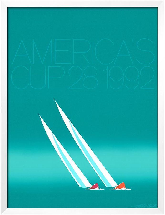 Art.com Duel ('92-Blue America's Cup) Framed Wall Art