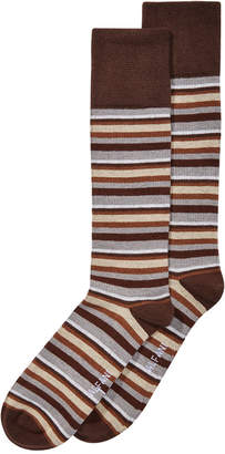 Alfani AlfaTech by Men's Ribbed Striped Dress Socks, Created for Macy's