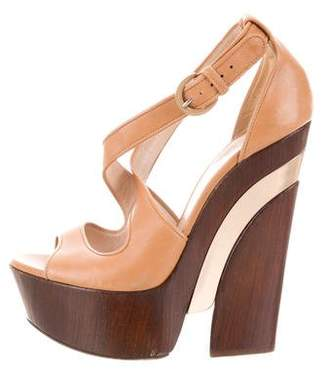 Casadei Leather Platform Sandals