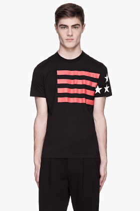 Givenchy Black Cuban Fit USA t-shirt