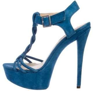 Rachel Zoe Platform T-Strap Sandals