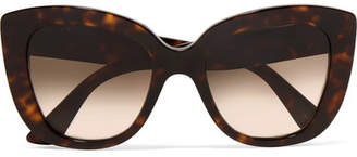 Gucci Havana Cat-eye Tortoiseshell Acetate Sunglasses - Brown