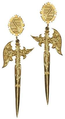 Eina Ahluwalia 16th Century Saxon Knife Inspired Earrings