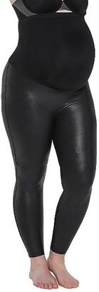 Spanx Plus Size Faux Leather Mama Leggings