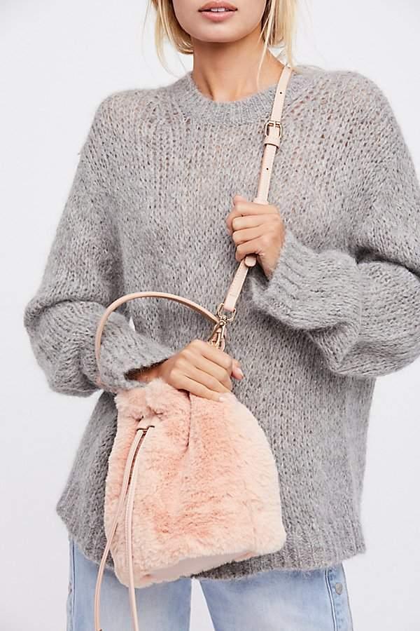 Faux Fur Bucket Bag by Free People