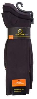 Gold Toe Gt a Goldtoe Brand GT by Men's Nylon Rib Dress Socks, 3-Pack