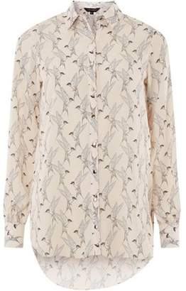Dorothy Perkins Womens Blush Bird Print Longline Shirt