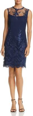 nanette Nanette Lepore Embroidered Mesh Sheath Dress