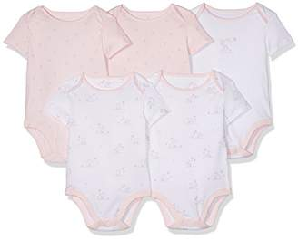Mothercare Baby Girls' Little Mouse-5 Pack Bodysuit