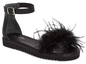 Seychelles Ruffle a Few Feathers Ankle Strap Sandal