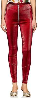 Area Women's Esme Stretch-Lamé Zip-Front Leggings