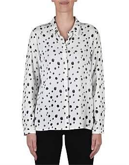 Jump Long Sleeve Spot Abstract Shirt