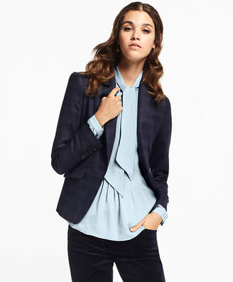 Brooks Brothers Petite Plaid Stretch-Wool Jacket