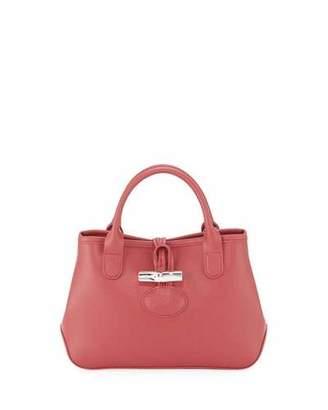 Longchamp Roseau Mini Grain Leather Top-Handle Crossbody Bag