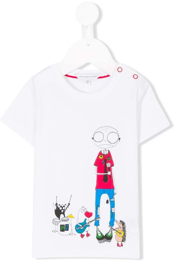 T-Shirt mit Cartoon-Print