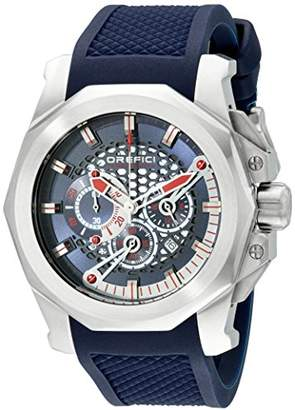 Orefici Unisex ORM2C4816 Stainless Steel Watch with Blue Rubber Band