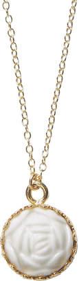 Mini Porcelain Rose Charm Necklace